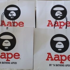LOT of 4 Aape Shopping Bags